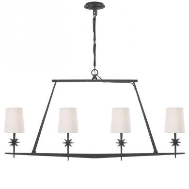 Visual Comfort S 5316 Etoile - Four Light Linear Chandelier